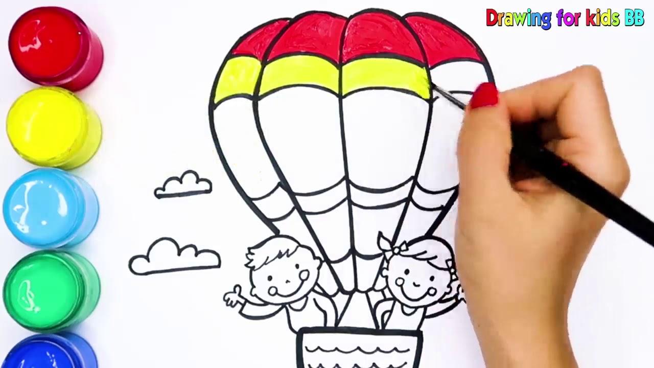 Sicak Hava Balonu Boyama Ve Cizimi Youtube
