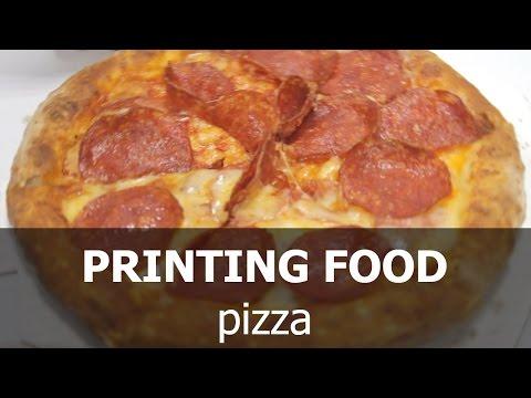 First printer printing food (pizza)
