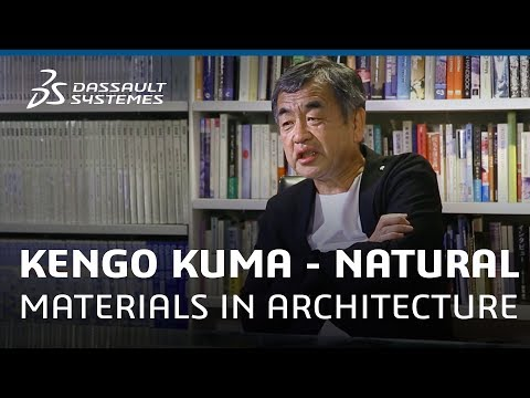 Kengo Kuma and Associates use natural materials in Architecture - Dassault Systèmes