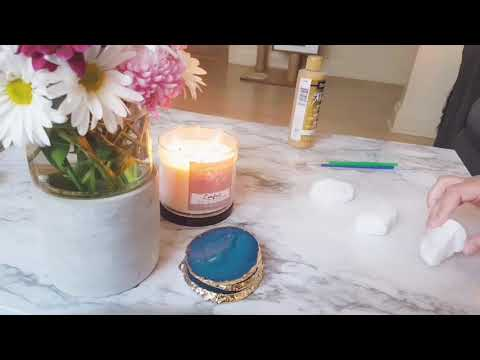 Simple DIY Paperweight with Gold Detail