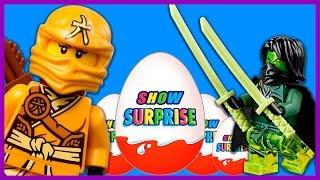 Surprise Show!!! Kinder Surprise - Lego Ninjago. Лего Ниндзяго - новый мультик Киндер сюрприз!!!