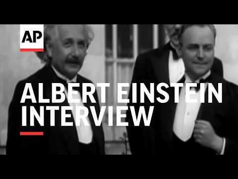 ALBERT EINSTEIN INTERVIEW - SOUND