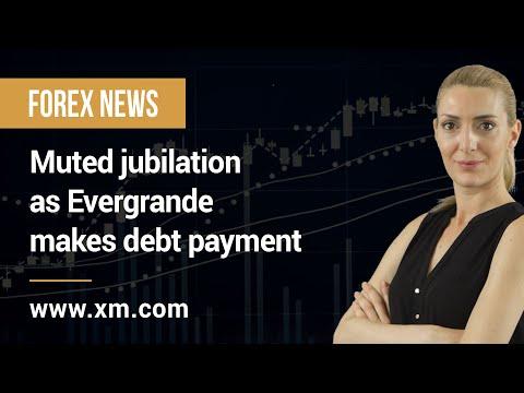 Forex News: 22/10/2021 – Muted jubilation as Evergrande makes debt payment