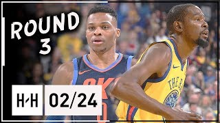 Kevin Durant vs Russell Westbrook Round 3 Duel Highlights (2018.02.24) Warriors vs Thunder - SICK