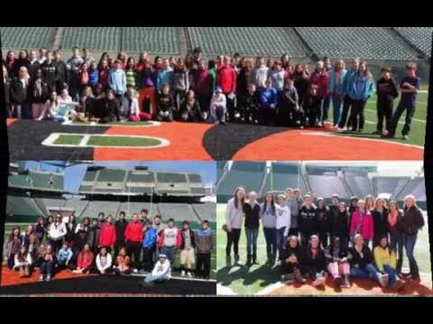 Turkey Foot Middle School Leadership Students Visit the Bengals