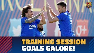 Great goals in Thursday training for Valencia game