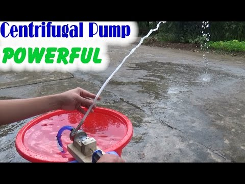 How to Make Centrifugal Pump Mini Using Fish Cans and Brushless Motor