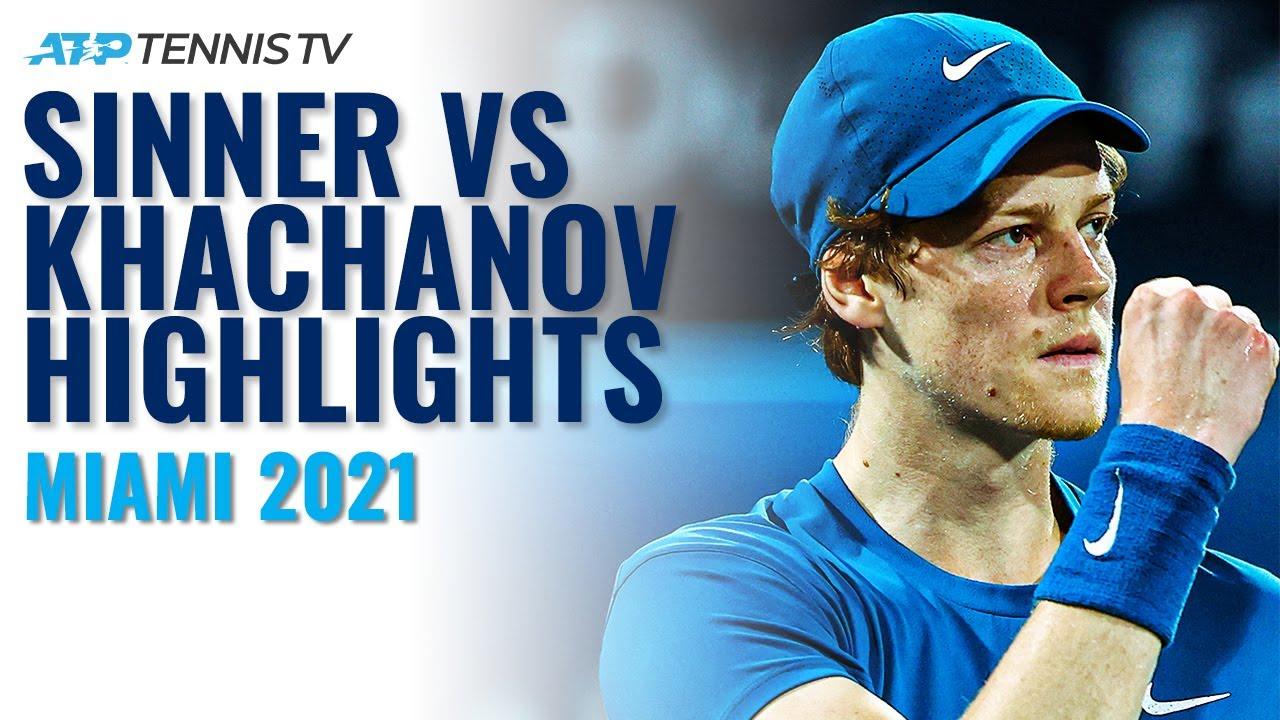 Jannik Sinner vs Karen Khachanov Highlights | Miami Open 2021