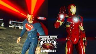 GTA 5 PC - Man VS God ! Iron Man VS Superman (🤖Ultimate Superman Mod💪)