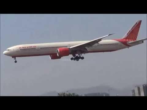 AIR INDIA BOEING 777-337ER LANDING AT MUMBAI AS FLIGHT NO.AI144