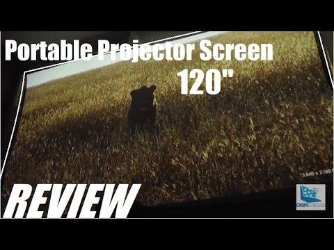 "REVIEW: Vankyo 120"" Portable Projector Screen (Widescreen)"