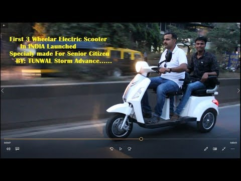 Indias first Three Wheel E Scooter STORM ADVANCE Launched