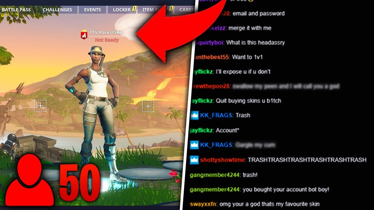 I put Twitch in my Fortnite name and wore RECON EXPERT    (Toxic)