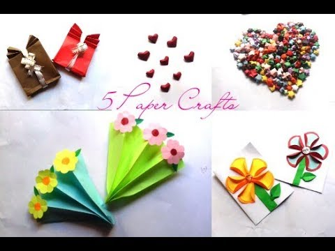 DIY Paper Crafts- 5 Easy Paper Crafts For Kids-Queen of DIY Crafts