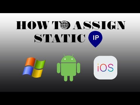 How to set static IP for Windows, Android and iOS