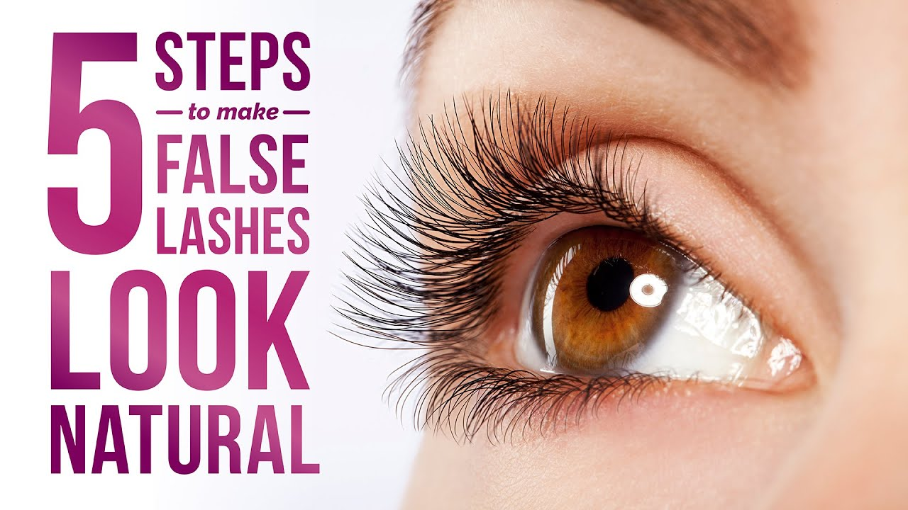 5 Steps To Make False Eyelashes Look Natural Pretty Smart Youtube