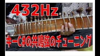 SeiMee Channel シタールシリーズ 共鳴弦のチューニング 432Hz C#の...