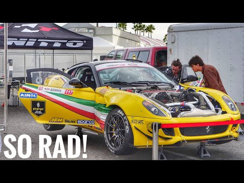 Twin Supercharged FERRARI Drift Car! New builds of FD!