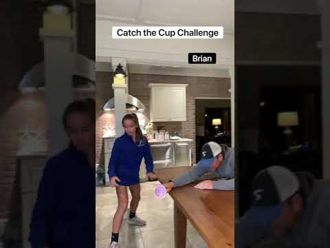 Catch the Cup Challenge!!😂😂 #shorts