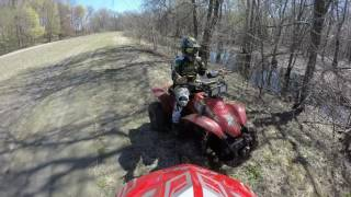 Video ATV trail riding close calls 4-23-17 download MP3, 3GP, MP4, WEBM, AVI, FLV Desember 2017