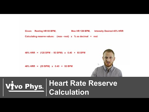 Heart Rate Reserve Calculation