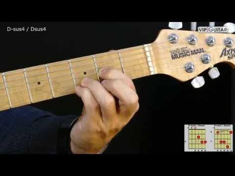 Gitarrenakkorde: D-sus4 / Dsus4 chord