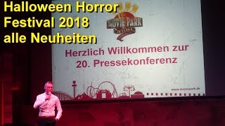 Halloween Horror Festival 2018 – Pressekonferenz – Movie Park Germany – Halloween - NEU Wrong Turn