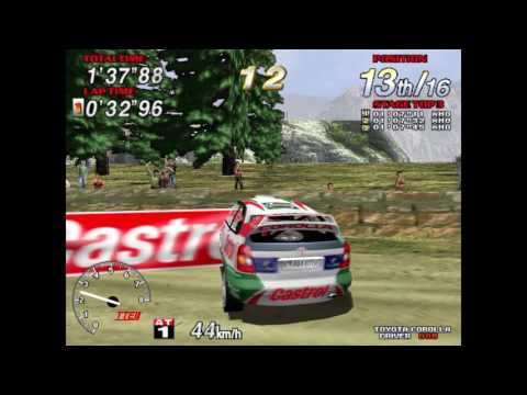 Sega Rally 2 (AC) Out of Bounds Glitch - Mountain Track