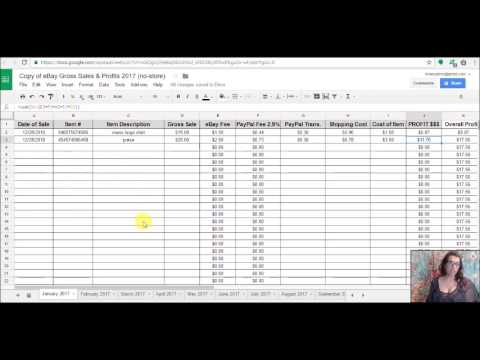 Spreadsheet For Tracking Ebay Profits Google Doc Available Now
