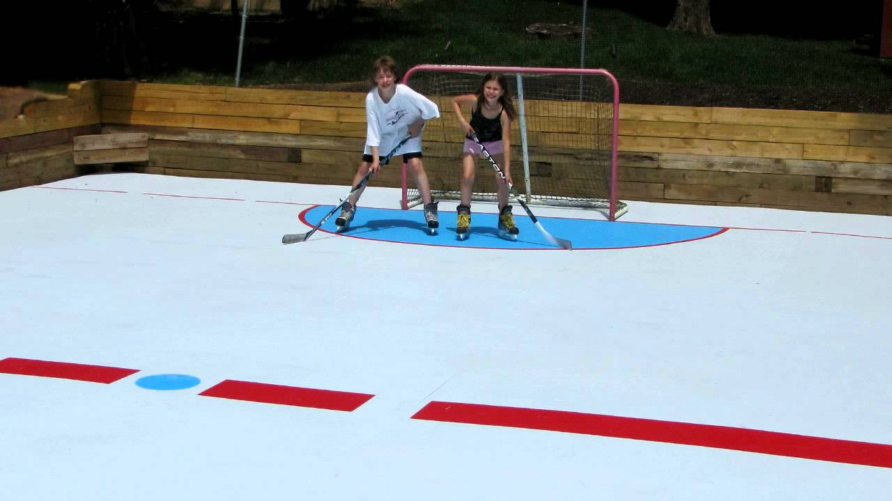 SuperGlide Home Hockey Rink by Global Synthetic Ice  YouTube