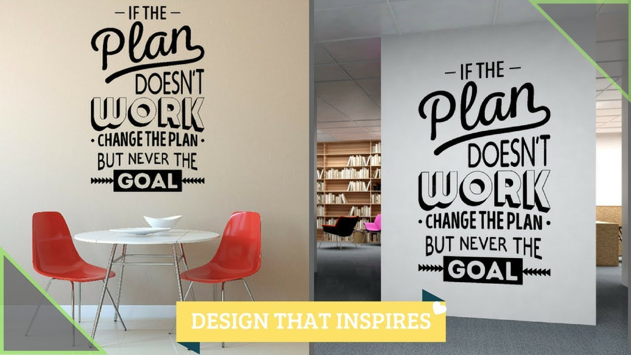 Office Wall Design Inspirational Quotes Calligraphy Painting Aapkapainter