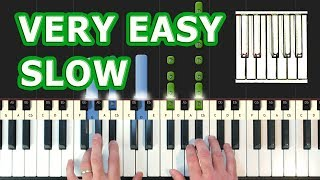Alan Walker - Faded - VERY EASY Piano Tutorial SLOW - How To Play (Synthesia)