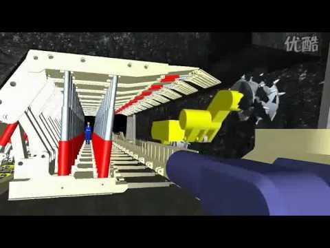 3D Engineering Display Of Low Seam Longwall Coal Mining Technology