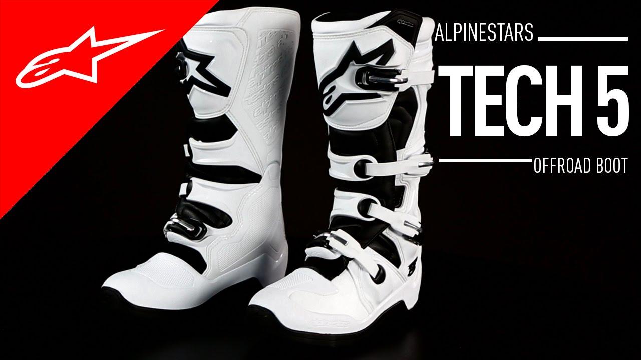 ALPINESTARS TECH 5 BOOTS BLACK//WHITE//YELLOW SZ 6 2015015-125-6