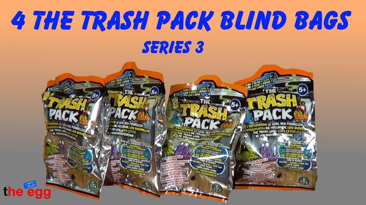 4 the trash pack serie 3 blind bags toy opening unboxing youtube. Black Bedroom Furniture Sets. Home Design Ideas