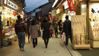 宮島表参道商店街 (清盛通り) を歩く Miyajima Omotesando Shopping Street