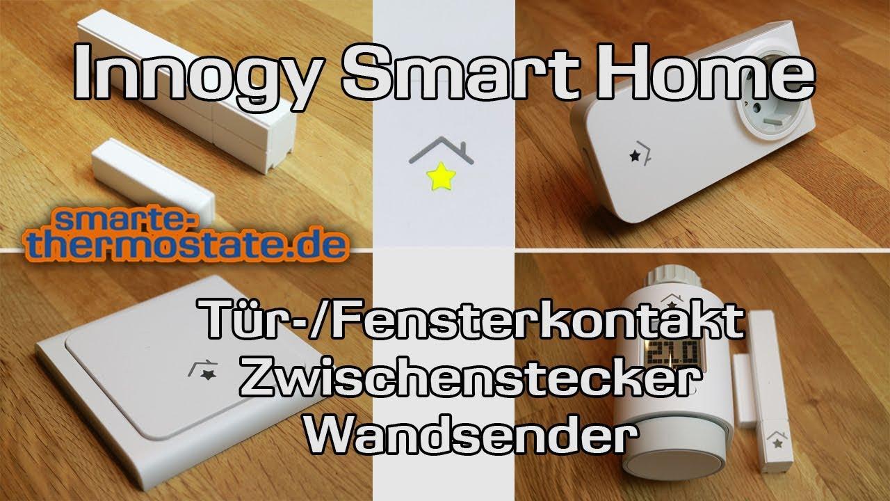 smart home innogy teil 2 t r und fenstersensor zwischenstecker wandsender thermostat youtube