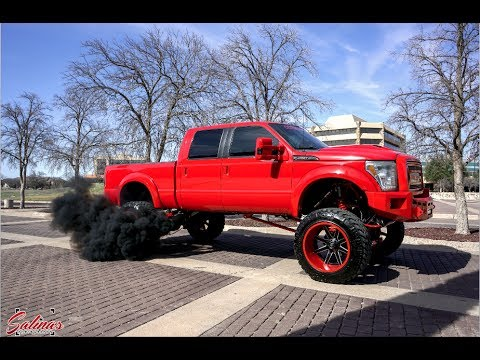 2011 F250 with Bigger turbos 14 inch lift 24x16 Fuel ...
