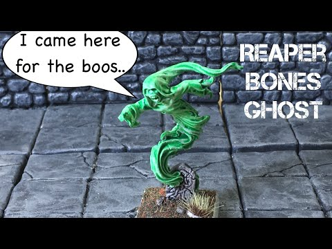 Miniature Monday Ghost Unboxing Reaper Bones Painted with Contrast Paints