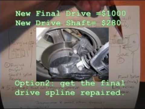 Bmw K75 K100 Final Drive Driveshaft Spline Failure Causes Youtube
