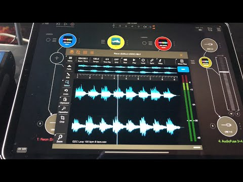 NEON Audio Editor & Clip Launcher with AUM - Demo for the iPad