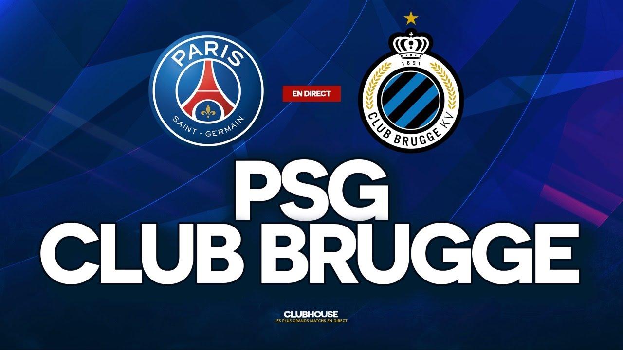 Psg Club Brugge Champions League Clubhouse Paris Bruges