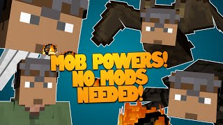 Minecraft | MOB POWERS! Fly, Explode, & More! NO MODS NEEDED! | Mob Abilities (Minecraft Redstone)