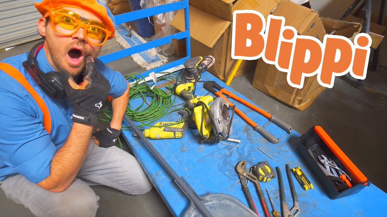 Learning About Tools With Blippi | Learning Tools For Kids | Educational Videos For Kids