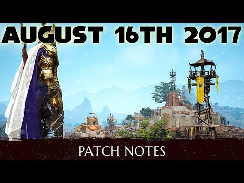 BDO Patch Notes Weekly | August 16th 2017 | Black Desert Onl