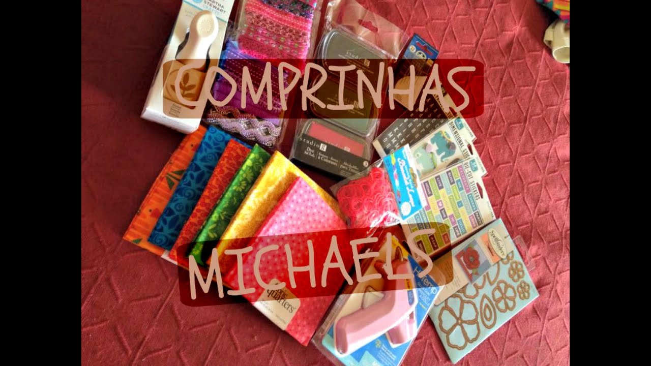 Comprinhas orlando michaels craft haul youtube for Michaels arts and craft hours