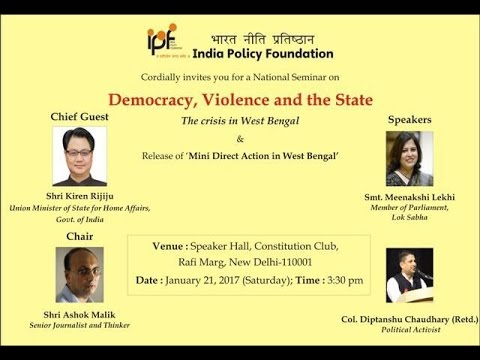 Democracy, Violence and the State - The Crisis in West Bengal