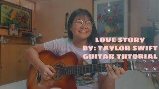 Love Story Guitar Tutorial || (Super Easy Chords!!!) Strumming Pattern