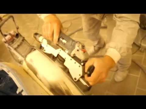 Auto body repair: new innovative flexible auto body orbital sander in action