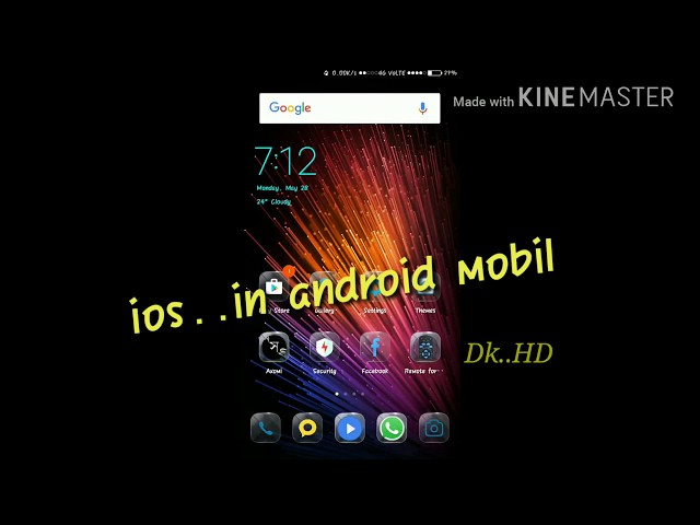 ios in  androids ....100% Work || ios thems || how to support ios in android mobil
